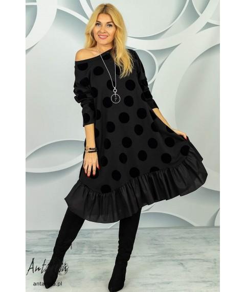 Дамска рокля до 4XL на точки