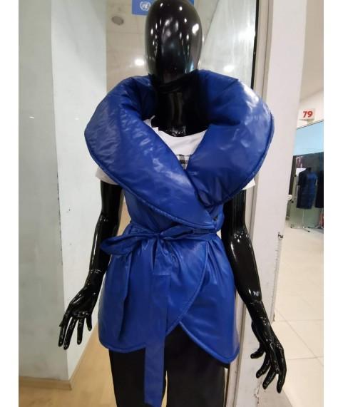 Дамски елек до 5XL в син цвят