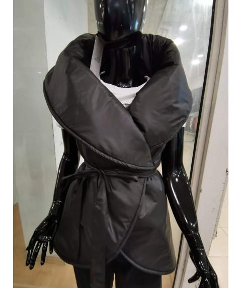 Дамски елек до 5XL черен