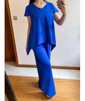 Дамски Сет до 5XL в синьо