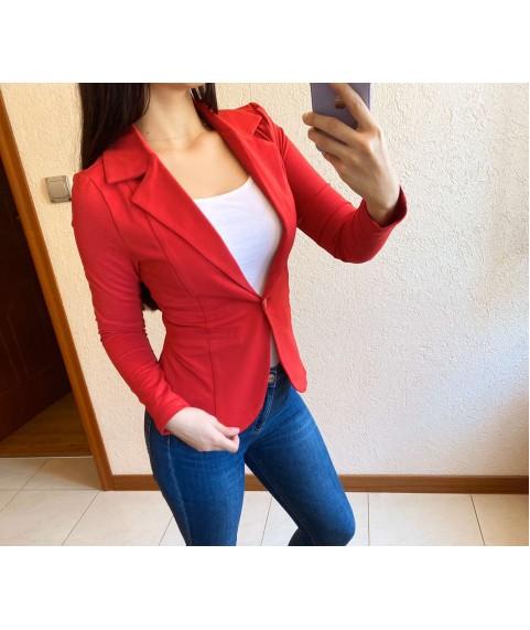 Дамско сако до 2XL в червено