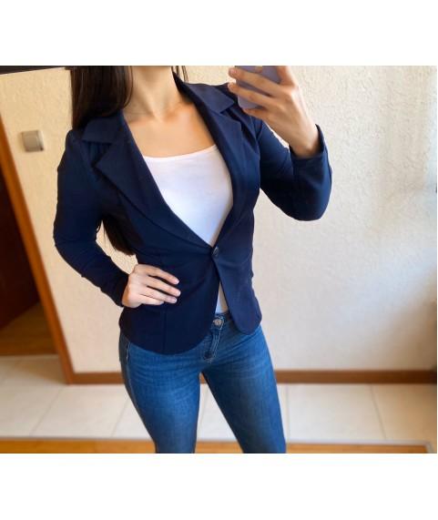 Дамско сако до 3XL в тъмно синьо