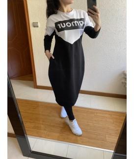 Дълга рокля до 5XL тип балон AMOUR