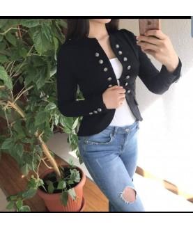 Дамско сако в тъмно син или черен цвят