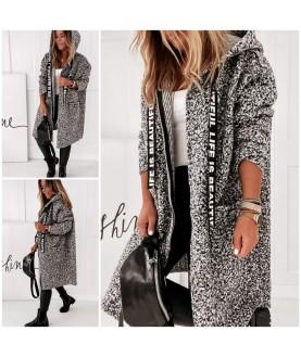 Дамско палто до 4XL със закопчаване с цип
