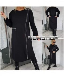 Дълга рокля до 6XL с дълъг цип от страни