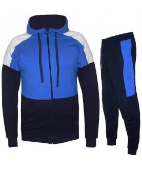 Атрактивен Мъжки екип до 6XL в тъмно син цвят със светло синя горна част